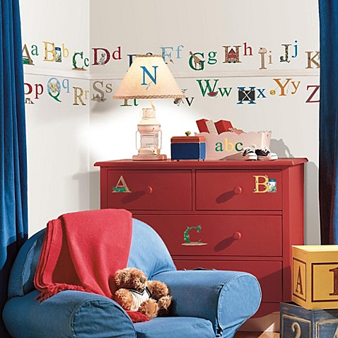 RoomMates Peel and Stick Wall Appliques in Alphabet