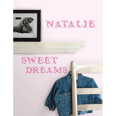 RoomMates Peel and Stick Wall Decals in Pink Expressions