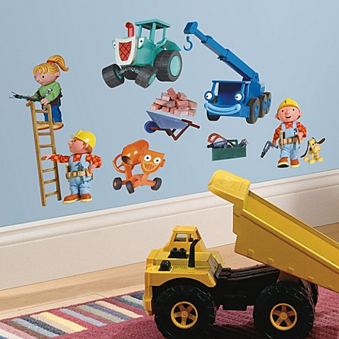 Wall decor roommates peel and stick wall decals bob for Bob the builder wall mural