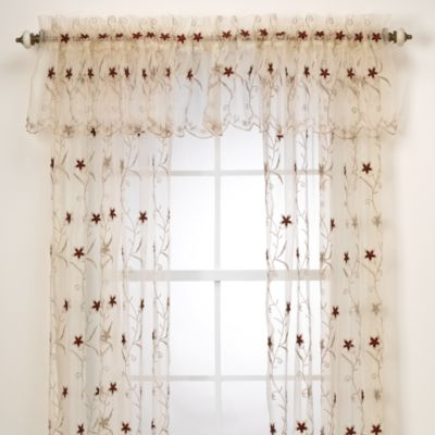 Astor Gold Window Curtain Valance