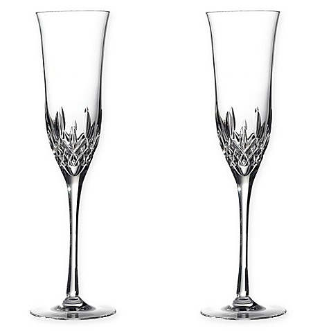 Waterford® Lismore Essence Crystal 8-Ounce Toasting Flute (Set of 2)