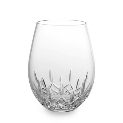 Waterford® Lismore Nouveau Stemless Crystal 18-Ounce Deep Red Wine Glasses (Set of 2)