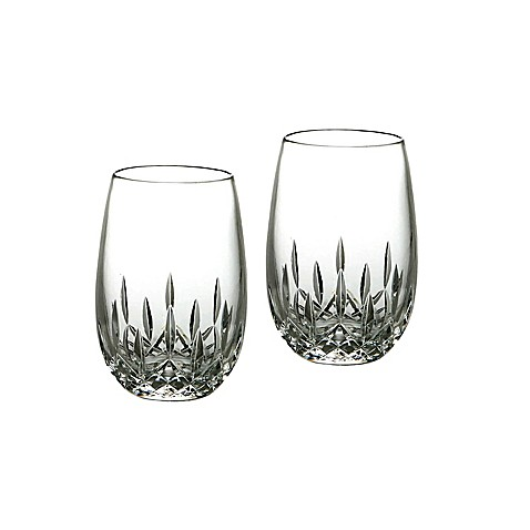 Waterford® Lismore Nouveau Stemless Crystal 8-Ounce White Wine Glasses (Set of 2)