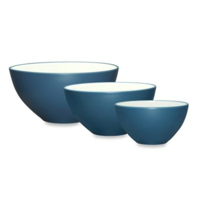 Noritake® Colorwave 3-Piece Mixing Bowl Set in Blue