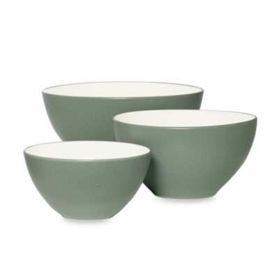 Noritake® Colorwave Green Bowls (Set of 3)