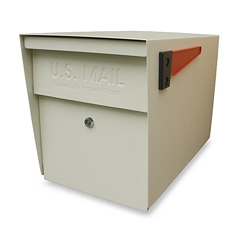 Mail Boss™ Curbside Locking Mailbox in White
