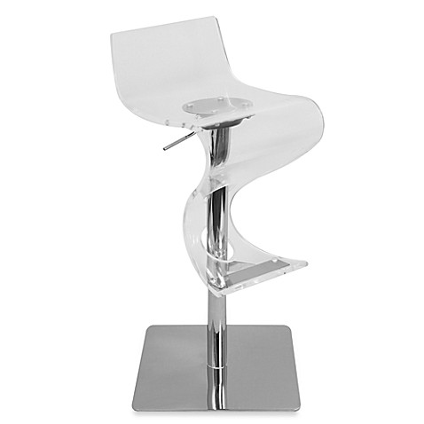 LumiSource Viva Acrylic Barstool in Clear