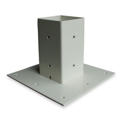 Mail Boss™ Curbside Locking Mailbox Base Plate in White