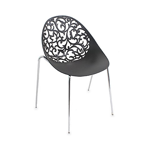 LumiSource Dahlia Chairs in Black (Set of 2)