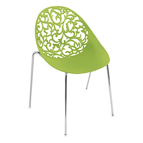 LumiSource Dahlia Chairs in Green (Set of 2)
