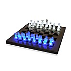 LED Blue and White Chess Set