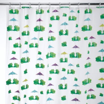 Kids Bath Decor > Interdesign® Frogs 72-Inch x 72-Inch EVA Shower Curtain
