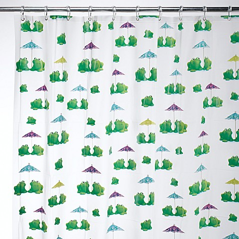 InterDesign® Frogs EVA Shower Curtain