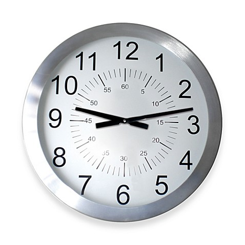 Stainless Steel 24 Wall Clock Bed Bath Beyond
