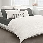 DKNY® Willow White Duvet Cover by DKNY, 100% Cotton