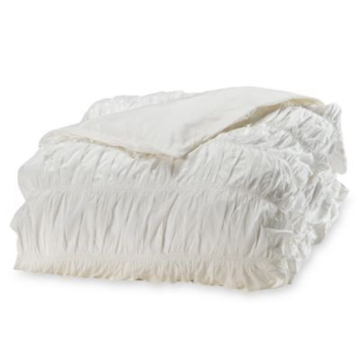 DKNY® Willow White Duvet Cover