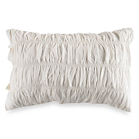 DKNY King Sham in Willow White