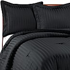 Wamsutta® Damask Stripe Black Comforter Set