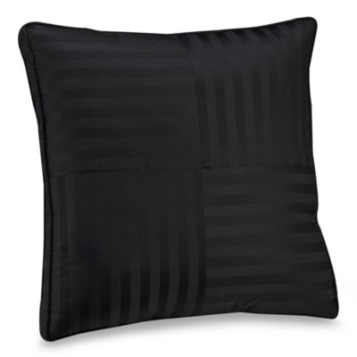 Wamsutta® Damask Stripe Black European Pillow