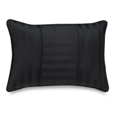 Wamsutta® Damask Stripe Black Breakfast Pillow