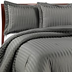 Wamsutta® Damask Stripe Comforter Set in Grey