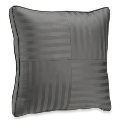Wamsutta® Damask Stripe European Pillow in Grey