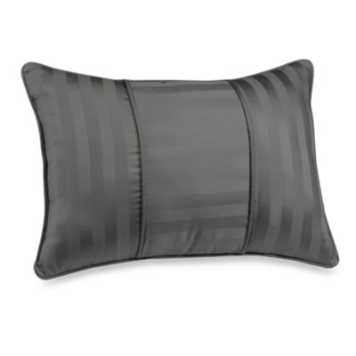 Wamsutta® Damask Stripe Breakfast Pillow in Grey