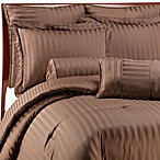 Wamsutta® Damask Stripe Chocolate Mini Comforter Set, 100% Egyptian Cotton
