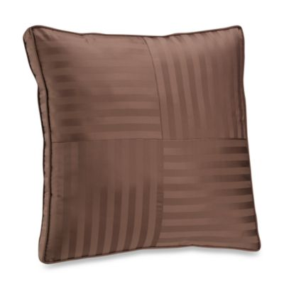 Wamsutta® Damask Stripe Chocolate European Pillow
