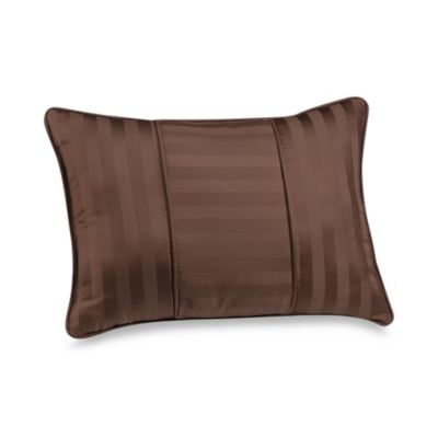 Wamsutta® Damask Stripe Breakfast Pillow in Chocolate