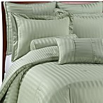 Wamsutta® Damask Stripe Green Mini Comforter Set, 100% Egyptian Cotton