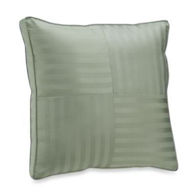 Wamsutta® Damask Stripe Green European Pillow