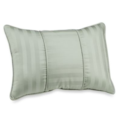 Wamsutta® Damask Stripe Green Breakfast Pillow