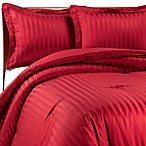 Wamsutta® Damask Stripe Red Comforter Set