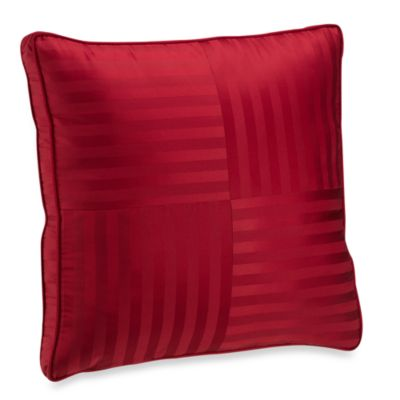 Wamsutta® Damask Stripe European Pillow in Red