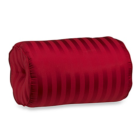 Red Throw Pillows For Bed : Wamsutta Damask Stripe Bolster Throw Pillow in Red - Bed Bath & Beyond