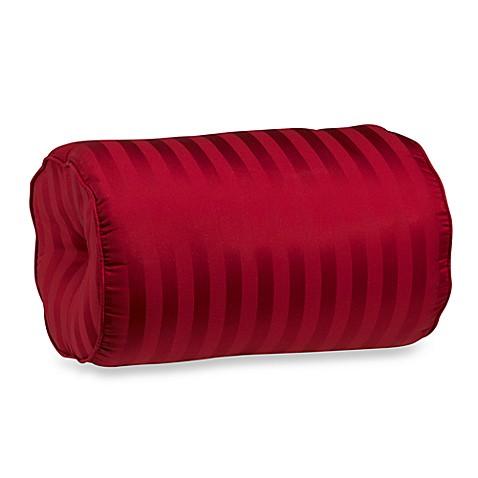 Wamsutta Damask Stripe Bolster Throw Pillow in Red - Bed Bath & Beyond