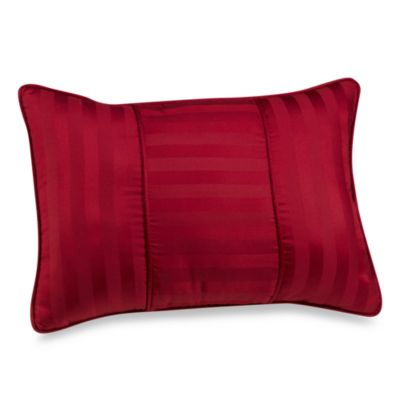 Wamsutta® Damask Stripe Breakfast Throw Pillow in Red
