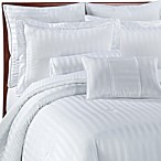 Damask Stripe Comforter Set in White
