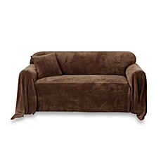 Sure Fit® Plush Furniture Throw - Chocolate