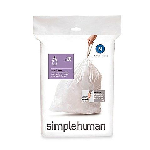 simplehuman® Code N 20-Pack 12-13-Gallon Custom Fit Liners