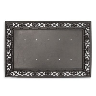 Rubber Door Mat Frame And Monogram Inserts Bed Bath Amp Beyond