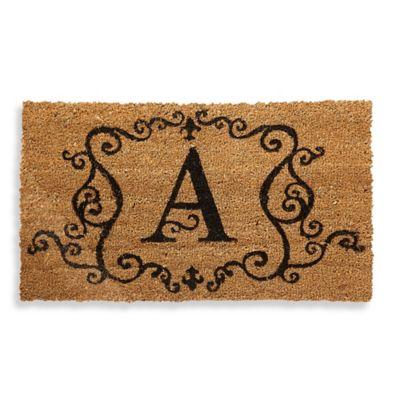 "Monogram Letter ""A"" Door Mat Insert"