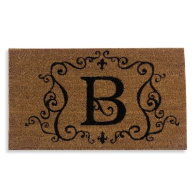 "Monogram Doormat Insert in Letter ""B"""