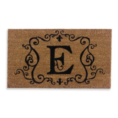 "Monogram Doormat Insert in Letter ""E"""