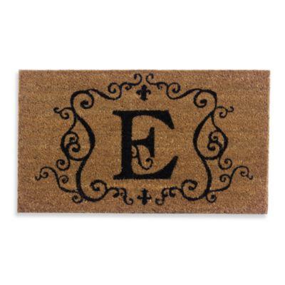"""Monogram Letter """"E"""" Door Mat Insert"""