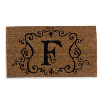 """Monogram Letter """"F"""" Door Mat Insert"""