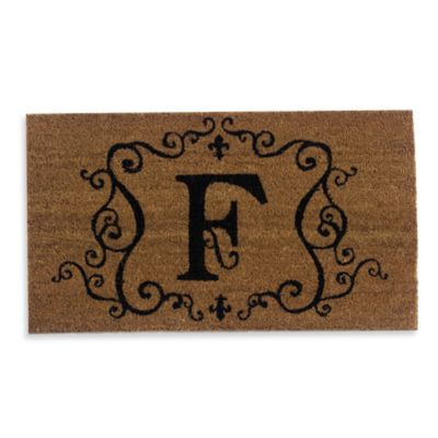 "Monogram Letter ""F"" Doormat insert"