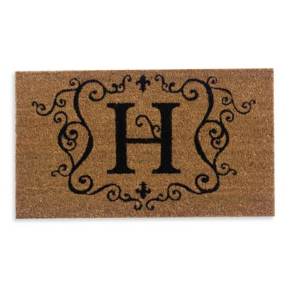 "Monogram Doormat Insert in Letter ""H"""