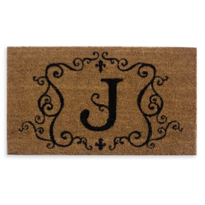 "Monogram Doormat Insert in Letter ""J"""